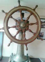 The wheel of the SS Lismore, displayed at James Kehoe's pub, Kilmore Quay, Co Wexford. Pic: Pat Looney