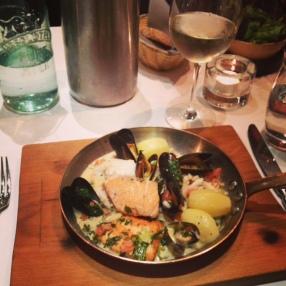 La poelee de la mer sauce bonne femme, at La Maison, Dublin