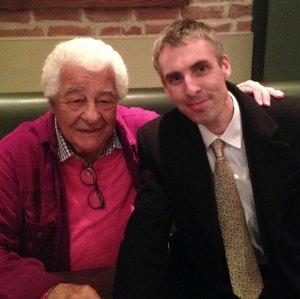 With Antonio Carluccio, Glasthule, April 2015.
