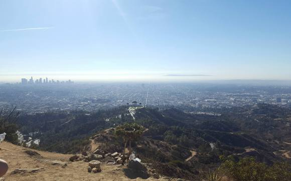 The view south from summit of Mount Hollywood
